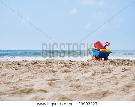 Beach Toys on Sand Summer Holiday Travel outdoor