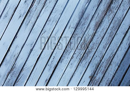 Vintage blue wooden background. Old weathered board. Texture. Pattern. Wood background.
