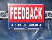 feedback or testimonials or comments for improvement and customer satisfaction poster