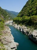 Oboke Gorge, famous for its geological strata, in Tokushima, Japan poster