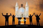 Faith Church Believe God Hope Loyalty Religion Concept poster