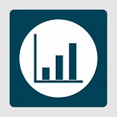 Project Stats Icon In Vector Format. Premium Quality Project Stats Symbol. Web Graphic Project Stats Sign On Blue Background. poster