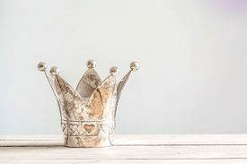 Princess Crown On A Wooden Table