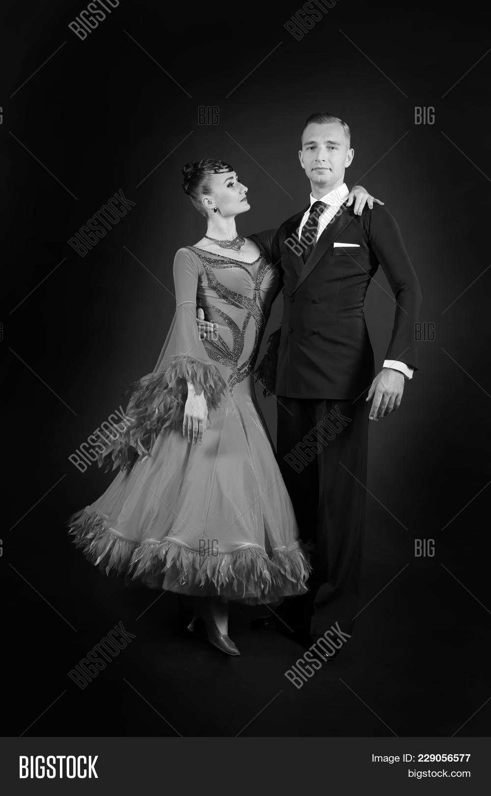 191fa68f1f7e Ballroom couple in love, dance couple in dress and tuxedo on dark  background. Valentines day concept. Love, proposal, date. Valentine,  valentines, holiday ...