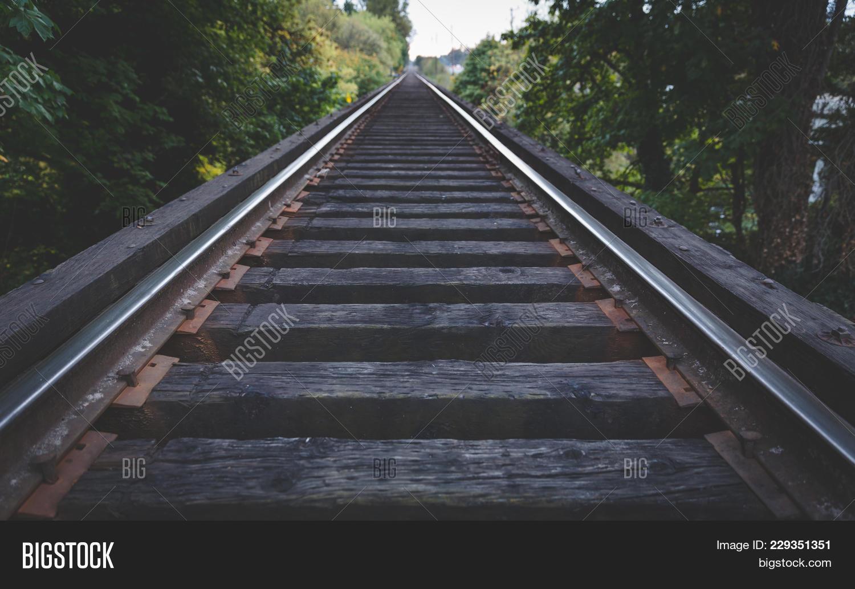 Train Tracks Details Image & Photo (Free Trial)   Bigstock