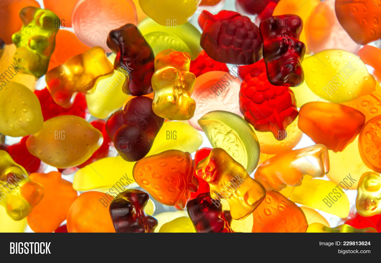 Colorful Fruit Gums Image Photo Free Trial Bigstock