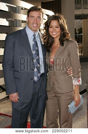 LOS ANGELES - JUL 13:  Garth Fisher and Brooke Burke at the ABC Summer Press Tour Party 2004  on July 13, 2004 in Century City, CA.