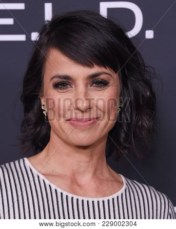 LOS ANGELES - FEB 24:  Constance Zimmer arrives for the Marvel's Agents of S.H.I.E.L.D.100th Episode Celebration on February 24, 2018 in Hollywood, CA