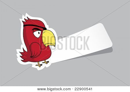 Vector illustration of funny cartoon character