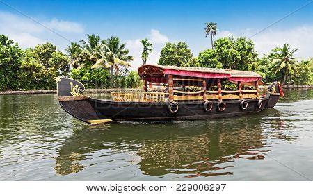 Beauty Boat In The Backwaters, Kerala, India