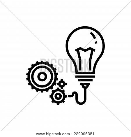 Creativity Icon Isolated On White Background. Creativity Icon Modern Symbol For Graphic And Web Desi