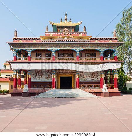 Tibetan Karma Kagyu Temple Tibet Monastery Near Mahabodhi Temple In Bodh Gaia, Bihar State Of India