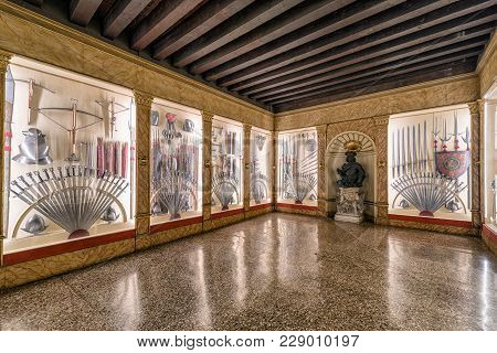 Interior Of Doge's Palace In Venice, Italy
