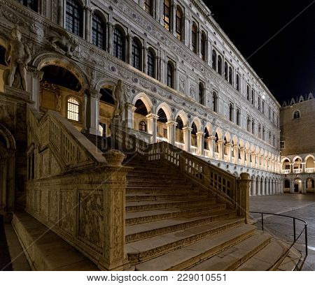 Staircase In Doge's Palace, Venice