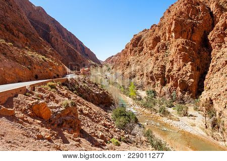 Dades Gorge Is A Gorge Of The Dades River And Lies Between The Atlas Mountains And The Jbel Saghro O