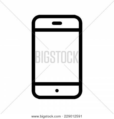 Phone Icon Isolated On White Background. Phone Icon Modern Symbol For Graphic And Web Design. Phone