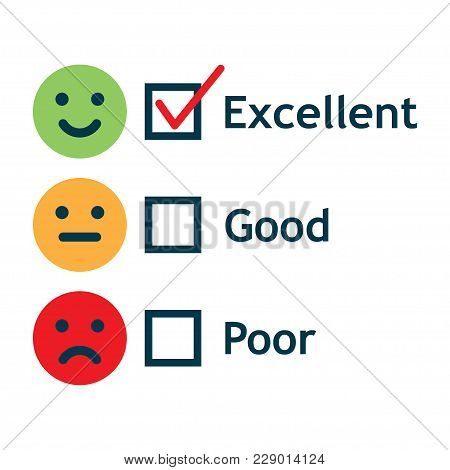 Customer Service Satisfaction Survey Form. Quality Control. Vector Illustration.
