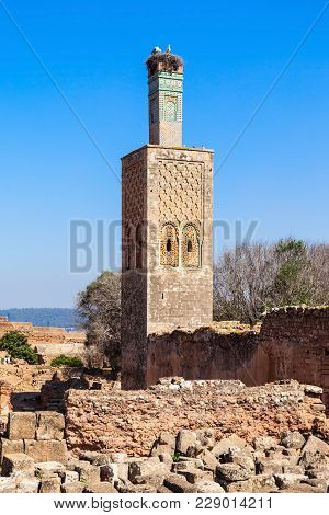 Chellah Or Sala Colonia Is A Medieval Fortified Necropolis Located In Rabat, Morocco. Rabat Is The C