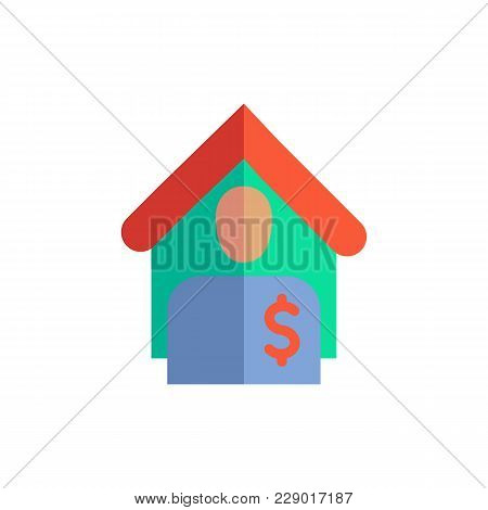 Tenant Icon Flat Symbol. Isolated  Illustration Of  Icon Sign Concept For Your Web Site Mobile App L