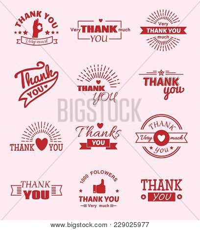 Thank You Quote Slogan Citate Vector Text Message Feeling Emotions Lettering Vector Badge Thanksfull