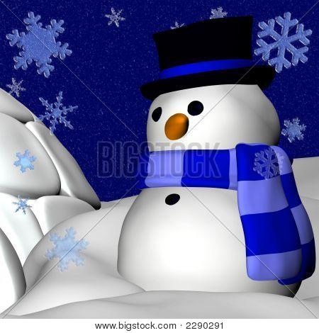 Snowman And Igloo