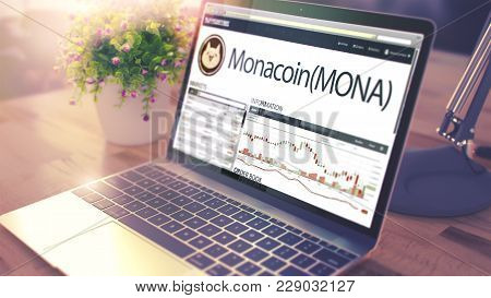 Web Site Of A Cryptocurrency Market With Dynamics Of The Cost Change Of Monacoin - Mona On The Ultra