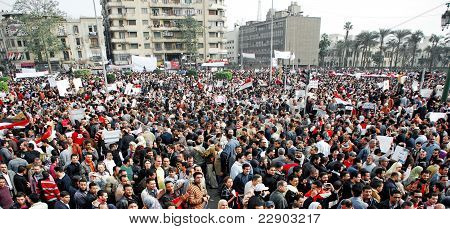 Egyptians Protest Against Mubarak