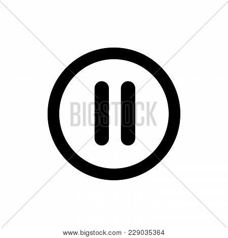 Pause Button Icon Isolated On White Background. Pause Button Icon Modern Symbol For Graphic And Web