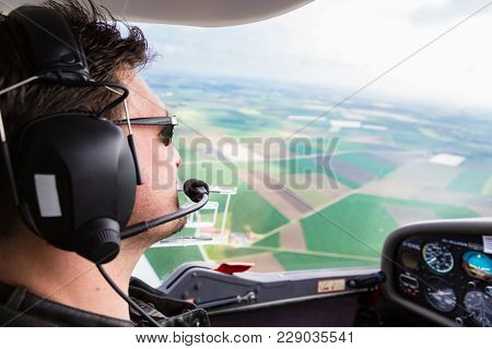 Sport Pilot flying his plane with confidence