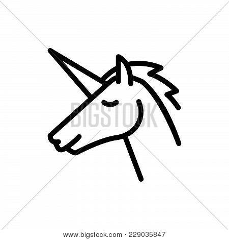Unicorn Icon Isolated On White Background. Unicorn Icon Modern Symbol For Graphic And Web Design. Un