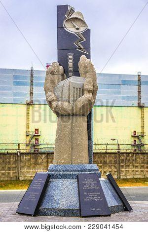 Chernobyl Zone, Ukraine - September 21, 2016: Memorial Deticated For Victims Of Chernobyl Accident N