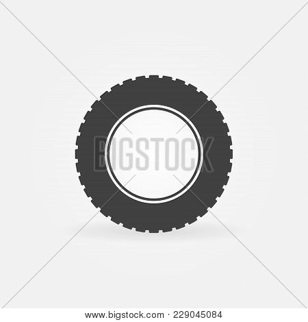 Tire Vector Simple Icon Or Design Element. Car Tyre Sign