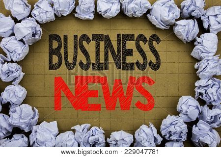 Business News. Business Concept For Modern Online News Written On Vintage Background With Copy Space