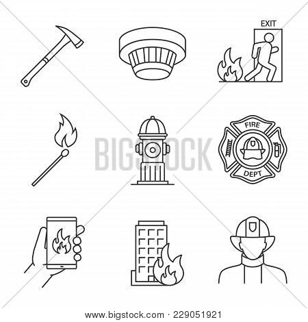 Firefighting Linear Vector Photo Free Trial Bigstock