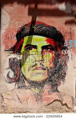Che Guevara portrait colorfill