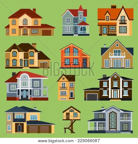 City Town House Vector Facade Face Side Street View City Modern World House Building Cartoon Archite