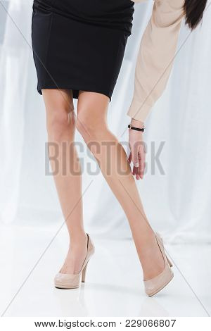 Partial View Of Businesswoman In Stylish Clothing In Office