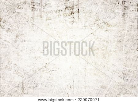 Vintage Grunge Newspaper Paper Texture Background. Blurred Old Newspaper Background. A Blur Unreadab