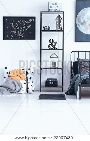 Astronomic Child's Bedroom Interior