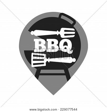 Barbecue Or Grill Party Vector Logo Template For Summer Holiday Picnic Or Restaurant Weekend Brunch
