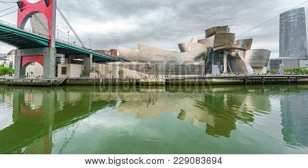 Guggenheim Museum, Bilbao, - April 24, 2015: Guggenheim Museum Represents New Era For The Previously