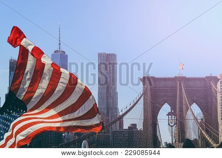The Brooklyn Bridge In New York City Is One Of The Oldest Suspension Bridges In The United States. I