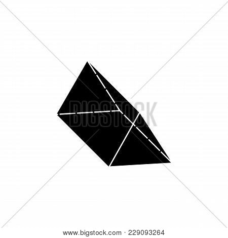 Triangular Prism Icon. Elements Of Geometric Figure Icon For Concept And Web Apps. Illustration  Ico