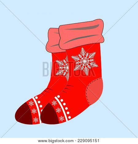 Christmas Socks For Gift, Winter Sock To Holiday Illustration