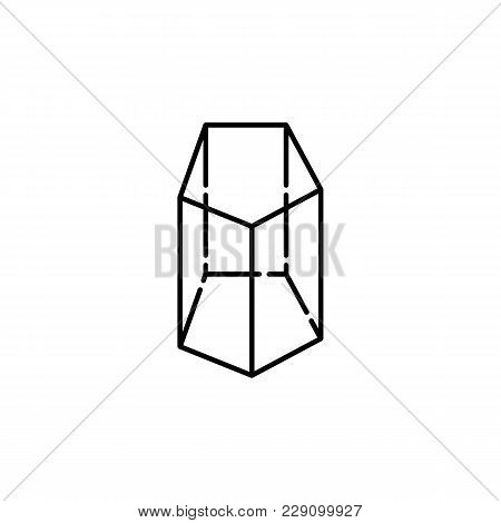 Prism Icon. Geometric Figure Element For Mobile Concept And Web Apps. Thin Line  Icon For Website De