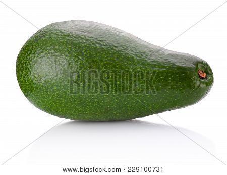 Avocado Fruit Isolated On A White Background