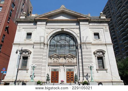 New York, Usa - July 6, 2013: First Church Of Christ, Scientist At Central Park West In New York. Th