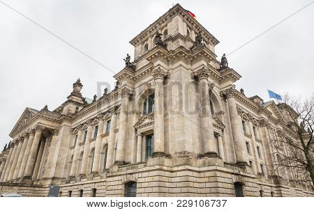German Parliament, Reichstag Building In Berlin City, Germany