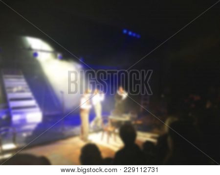 Theater Play Theme Creative Abstract Blur Background With Bokeh Effect.