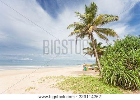 Bentota, Sri Lanka, Asia - A Beatiful View Across The Wide Beach Of Bentota